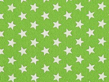 サンヒット 柄付き プリントフェルト 星・スター 黄緑