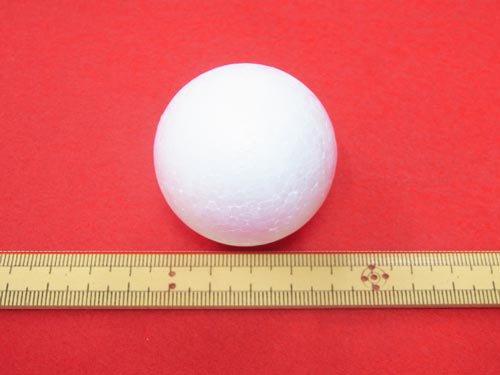 手芸用 スチボール 発泡スチロールボール 45mm 1個入 【参考画像1】