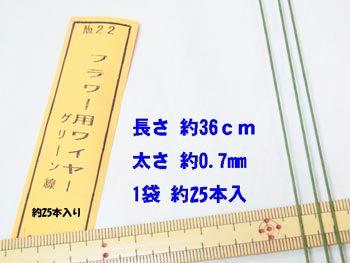 地巻きワイヤー 針金 グリーン #22 太さ約0.7mm