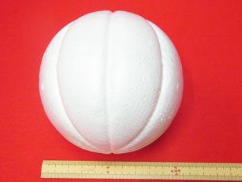 手芸用 木目込型スチボール 発泡スチロールボール 100mm 5個入