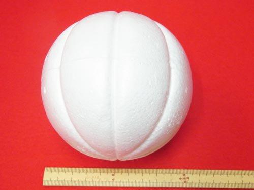手芸用 木目込型スチボール 発泡スチロールボール 100mm 5個入 【参考画像1】