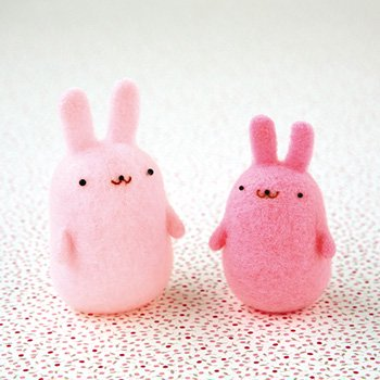 ハマナカ アクレーヌ ころころゆれる ぷにゅぷにゅマスコット・ウサギ H441-447