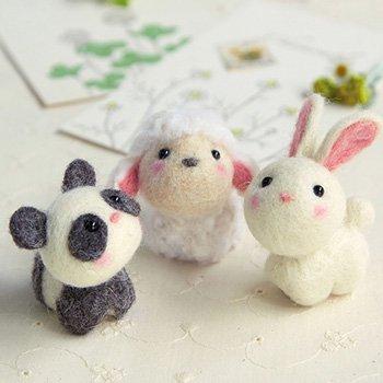 ハマナカ フェルト羊毛キット 小さなお友達 どうぶつたち H441-481