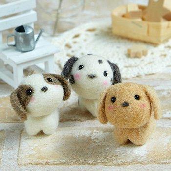ハマナカ フェルト羊毛キット 小さなお友達 いぬたち H441-482