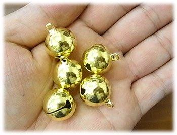 手芸鈴 ゴールド 直径約16ミリ