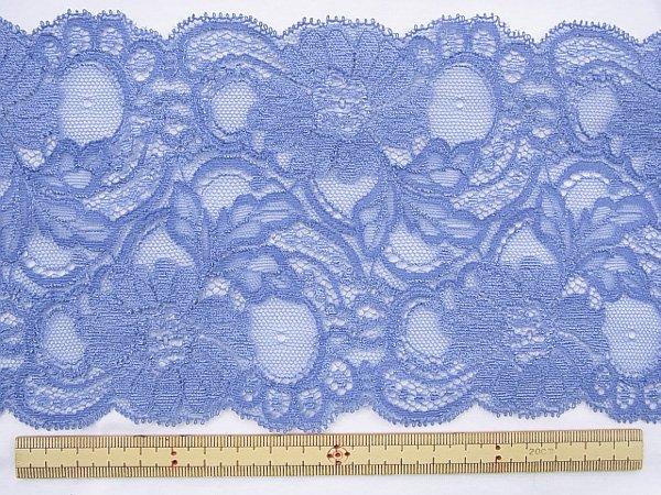 特価 広巾 チュールレース 5mカット 幅約125mm ブルー 【36】 【参考画像1】