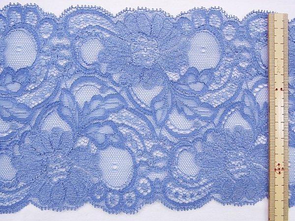 特価 広巾 チュールレース 5mカット 幅約125mm ブルー 【36】 【参考画像2】