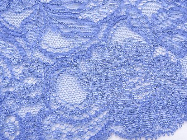 特価 広巾 チュールレース 5mカット 幅約125mm ブルー 【36】 【参考画像3】