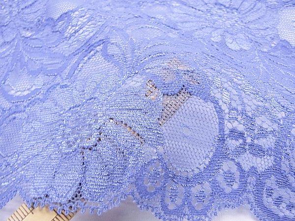 特価 広巾 チュールレース 5mカット 幅約125mm ブルー 【36】 【参考画像5】