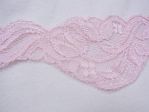 特価 広巾 チュールレース 5mカット 幅約55mm ピンク 【39】 【参考画像3】