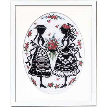 オリムパス 刺繍キット アンとダイアナ 7455 赤毛のアンの物語