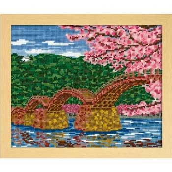 オリムパス 刺繍キット 桜と錦帯橋 7459