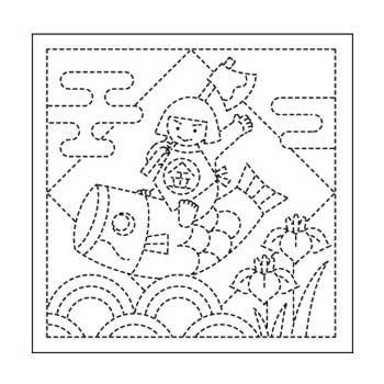 オリムパス 花ふきん 布パック 端午の節句 白 H-1026
