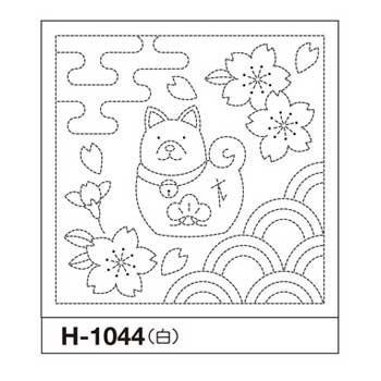 オリムパス 花ふきん 布パック 戌とさくら 白 H-1044