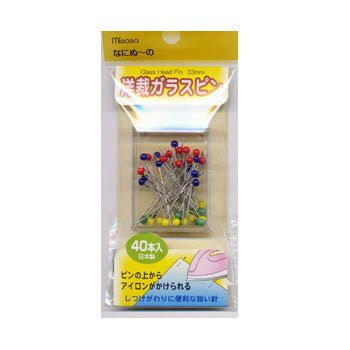 ミササ なにぬーの 洋裁ガラスピン 40本入 No.6311