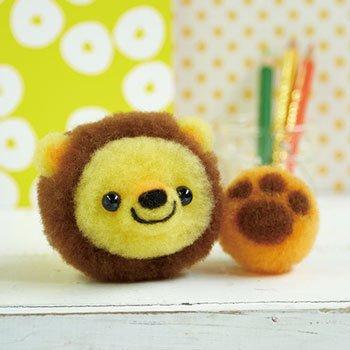 ■廃番■ 購入不可|ハマナカ アクレーヌキット ライオンくんとおもちゃのボール H441-479
