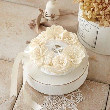 【4977444941434】ハマナカ レースのお花のピロー H431-155 ウェディングキット