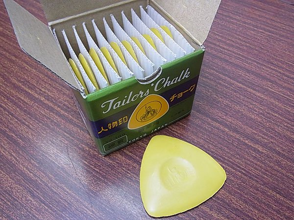 人物印チョーク 黄色 NO.300 硬質 職業用チャコ 【参考画像2】
