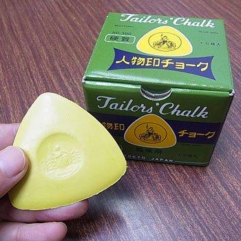人物印チョーク 黄色 NO.300 硬質 職業用チャコ