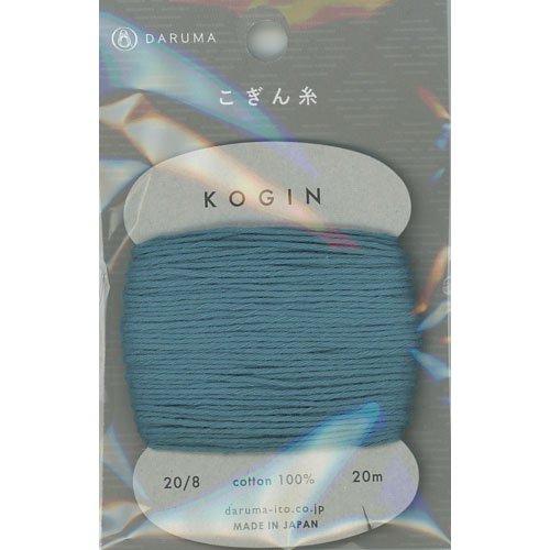 ダルマ こぎん糸 あさぎ col.5 カード巻 20m 【参考画像1】