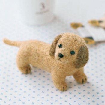 ハマナカ フェルト羊毛キット犬 ミニチュアダックスフント H441-264