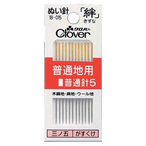 クロバー ぬい針 絆 18-015 普通地用普通針5