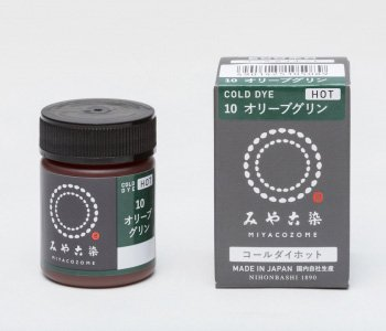 みや古染 eco染料 コールダイホット col.10 オリーブグリン