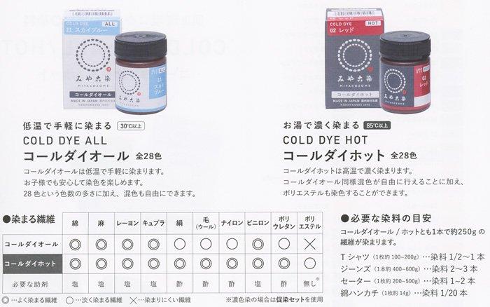 みや古染 eco染料 染め粉 コールダイホット col.18 ブラック・黒  【参考画像5】