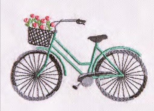 DMC 刺繍キット BICYCLE 自転車 TB147 【参考画像2】
