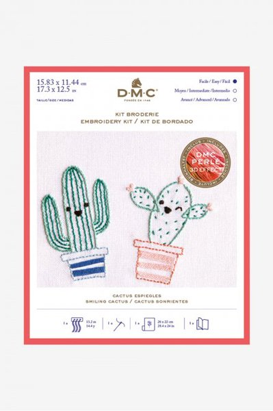 DMC 刺繍キット SMILING CACUTUS スマイルサボテン TB145 【参考画像1】