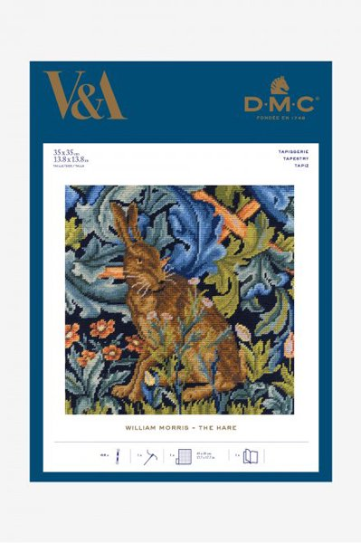 ■品切れ■ DMC クロスステッチキット ハレ/野うさぎ ウィリアム・モリス C120K/77 【参考画像1】