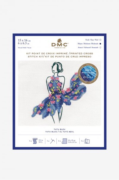 DMC クロスステッチキット TUTU BLUE BK1795 【参考画像1】
