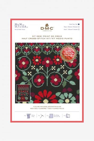 DMC クロスステッチキット RED GEO FLOWERS BK1784 【参考画像1】