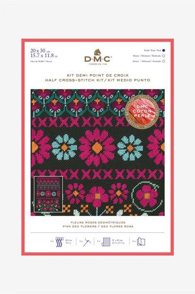 DMC クロスステッチキット PINK GEO FLOWERS BK1785 【参考画像1】