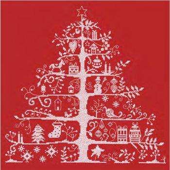 DMC クロスステッチキット クリスマスツリー レッド JPBK557R