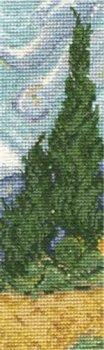 DMC クロスステッチキット 黄色い麦畑と糸杉 ヴァン・ゴッホ BL1121/71