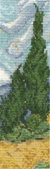 DMC クロスステッチキット 黄色い麦畑と糸杉 ヴァン・ゴッホ BL1121/71 【参考画像1】