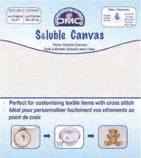 DMC 刺繍布 Soluble Canvas ソルブスキャンバス DC90 【参考画像1】