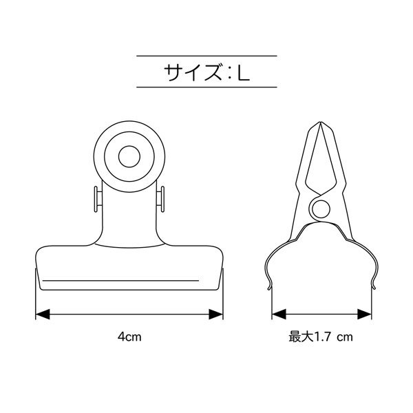 清原 クリップM 6個入 BM01-16 【参考画像5】