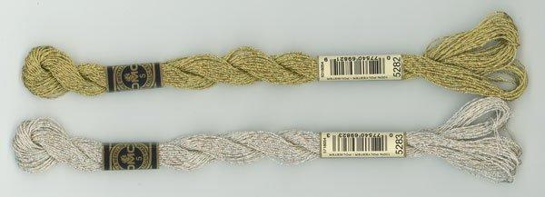 DMC ラメ刺繍糸 金 ゴールド 5番糸 5282 【参考画像1】