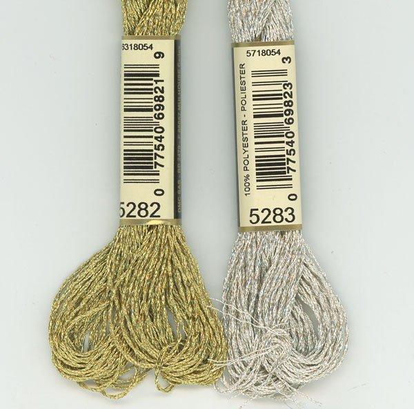 DMC ラメ刺繍糸 金 ゴールド 5番糸 5282 【参考画像2】