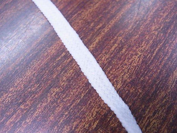 ■品切れ■ ウーリースピンテープ 白 5mカット マスクゴムの代用品 【参考画像2】