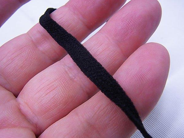 ■品切れ■ ウーリースピンテープ 黒 5mカット マスクゴムの代用品 【参考画像1】