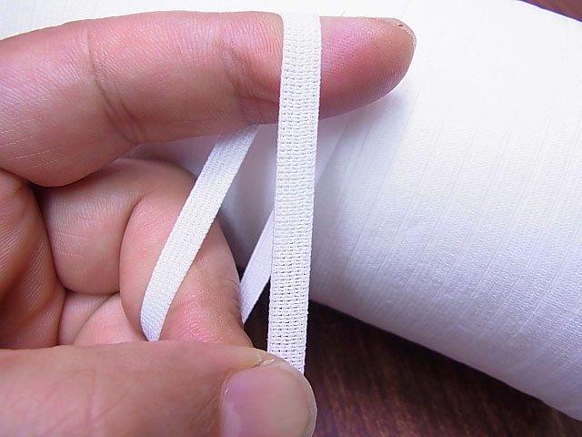 平ゴム 業務用 白 5mm幅 200m ボビン巻き 【参考画像2】