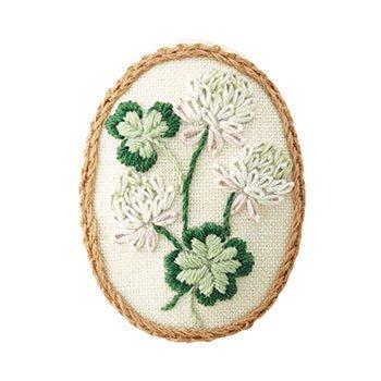 オリムパス 刺繍キット ブローチキット 9078 シロツメクサ