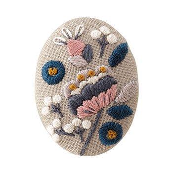 オリムパス 刺繍キット ブローチキット 9079 ピオニー