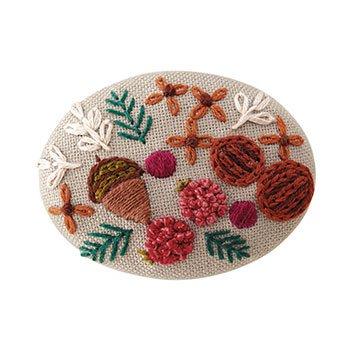 オリムパス 刺繍キット ブローチキット 9083 木の実
