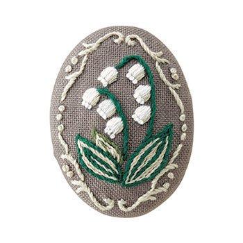 オリムパス 刺繍キット ブローチキット 9085 スズラン
