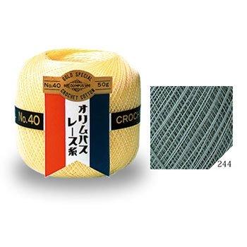 オリムパスレース糸 金票 40番 col.244 1箱(3玉入x50g)