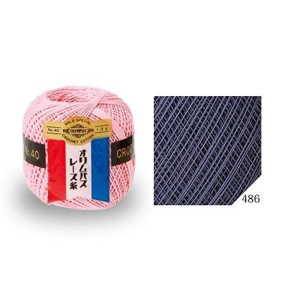 オリムパスレース糸 金票 40番 col.486(3玉入x10g) 【参考画像1】